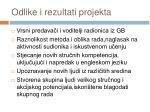 odlike i rezultati projekta