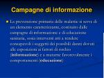 campagne di informazione