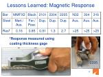 lessons learned magnetic response