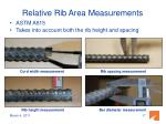 relative rib area measurements