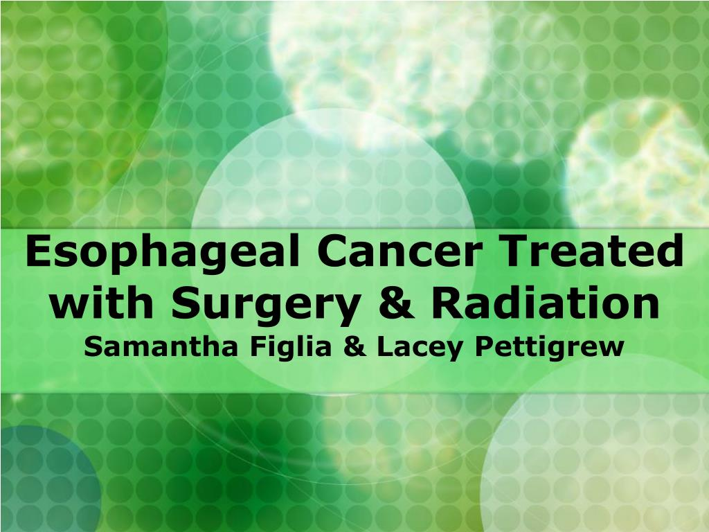esophageal cancer treated with surgery radiation l.