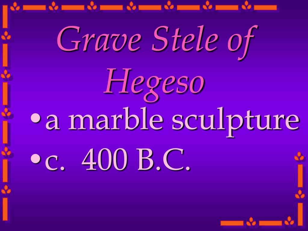 Grave Stele of Hegeso
