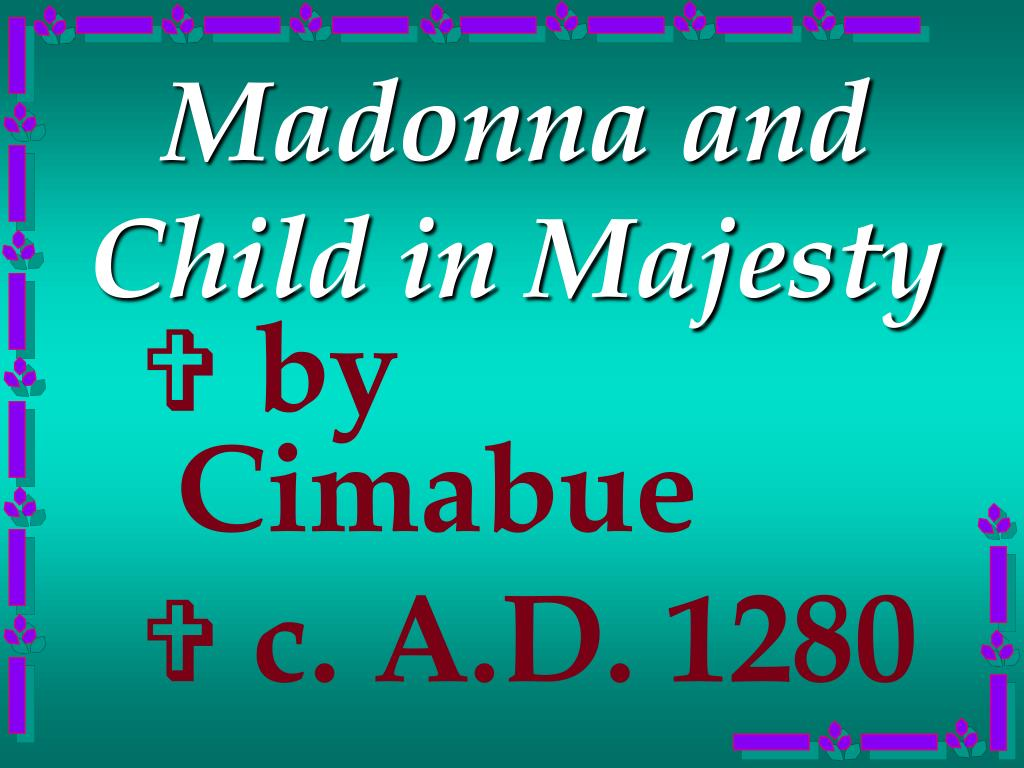 Madonna and Child in Majesty