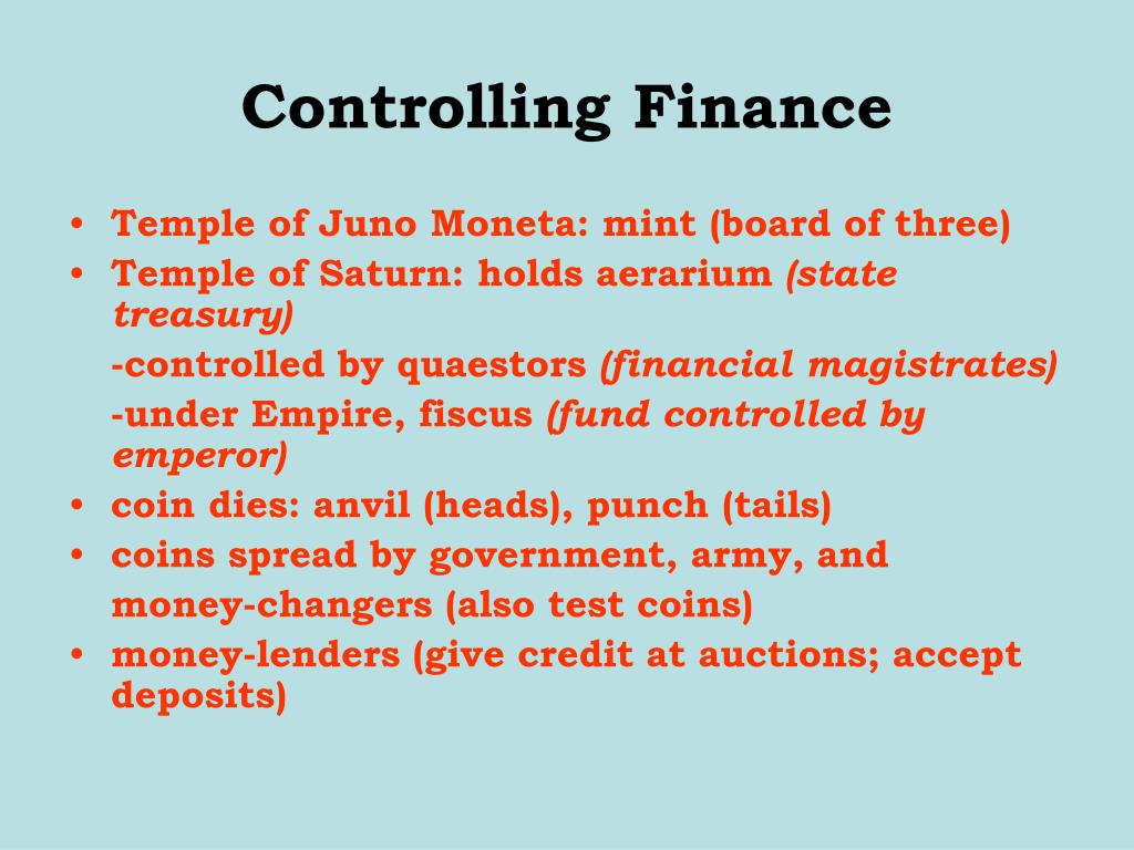 Controlling Finance
