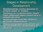 stages in relationship development