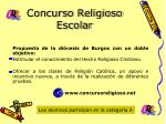 concurso religioso escolar
