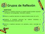 grupos de reflexi n