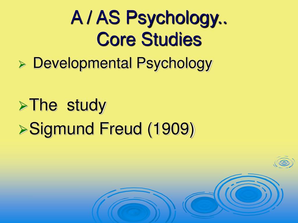 a as psychology core studies l.