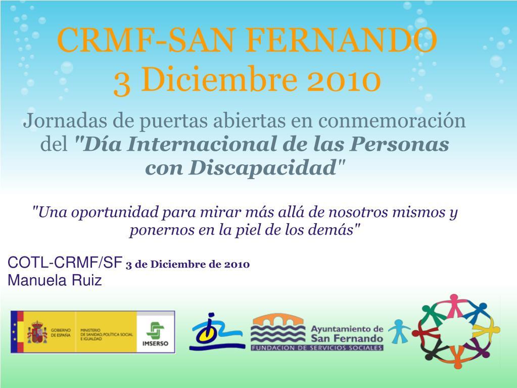 crmf san fernando 3 diciembre 2010 l.