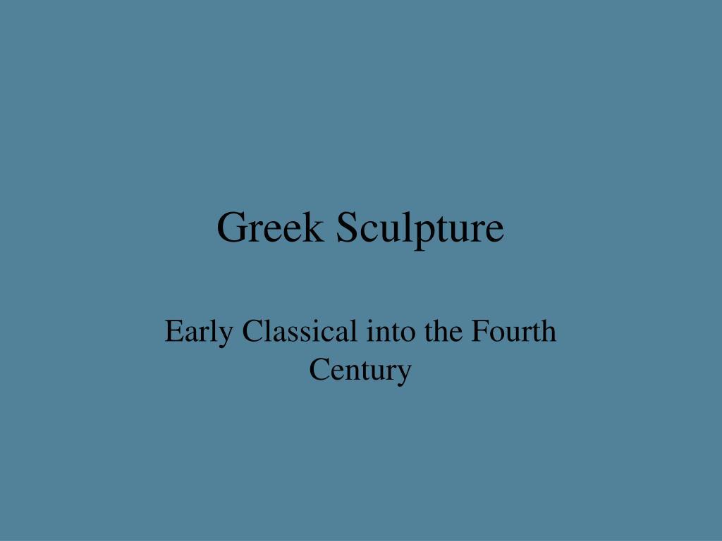 greek sculpture l.