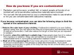 how do you know if you are contaminated