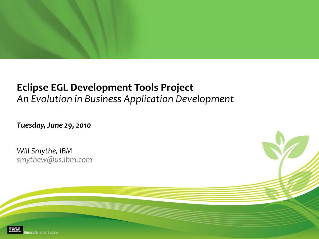 eclipse egl development tools project an evolution in business application development l.