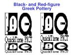black and red figure greek pottery