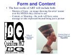 form and content