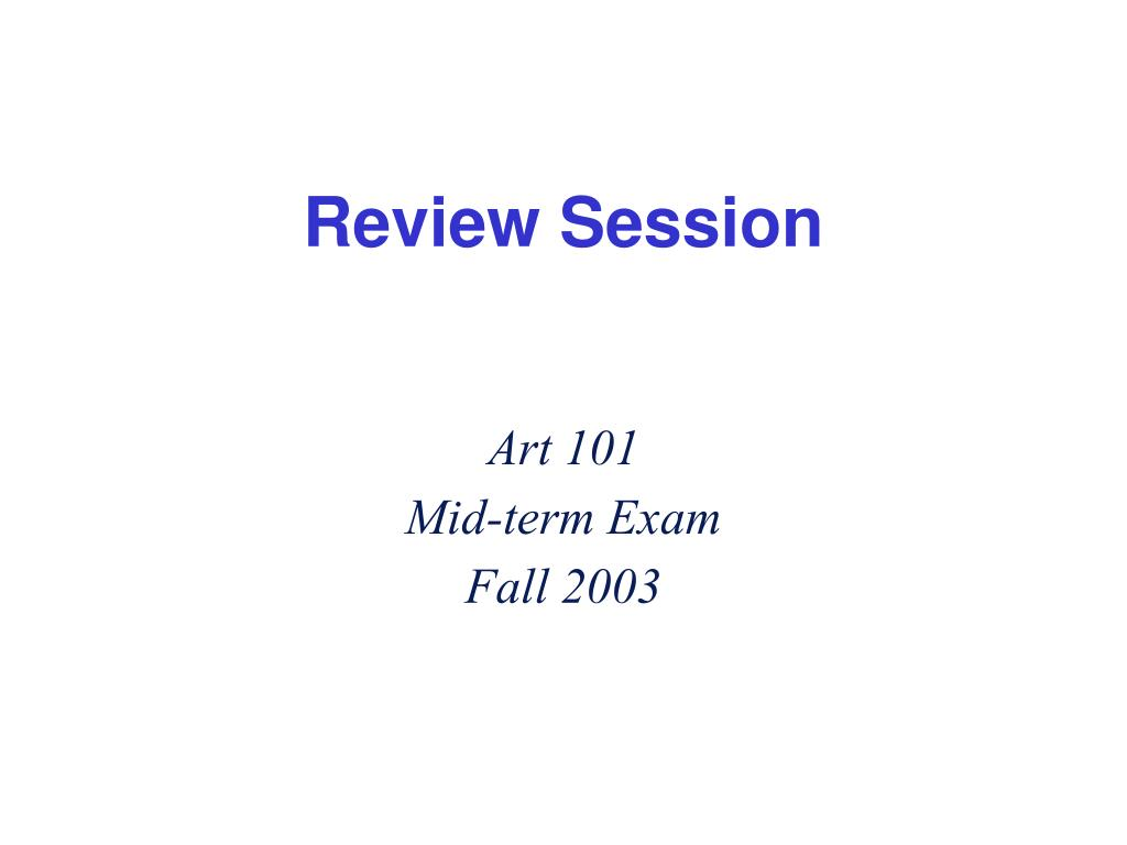 review session l.