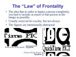the law of frontality