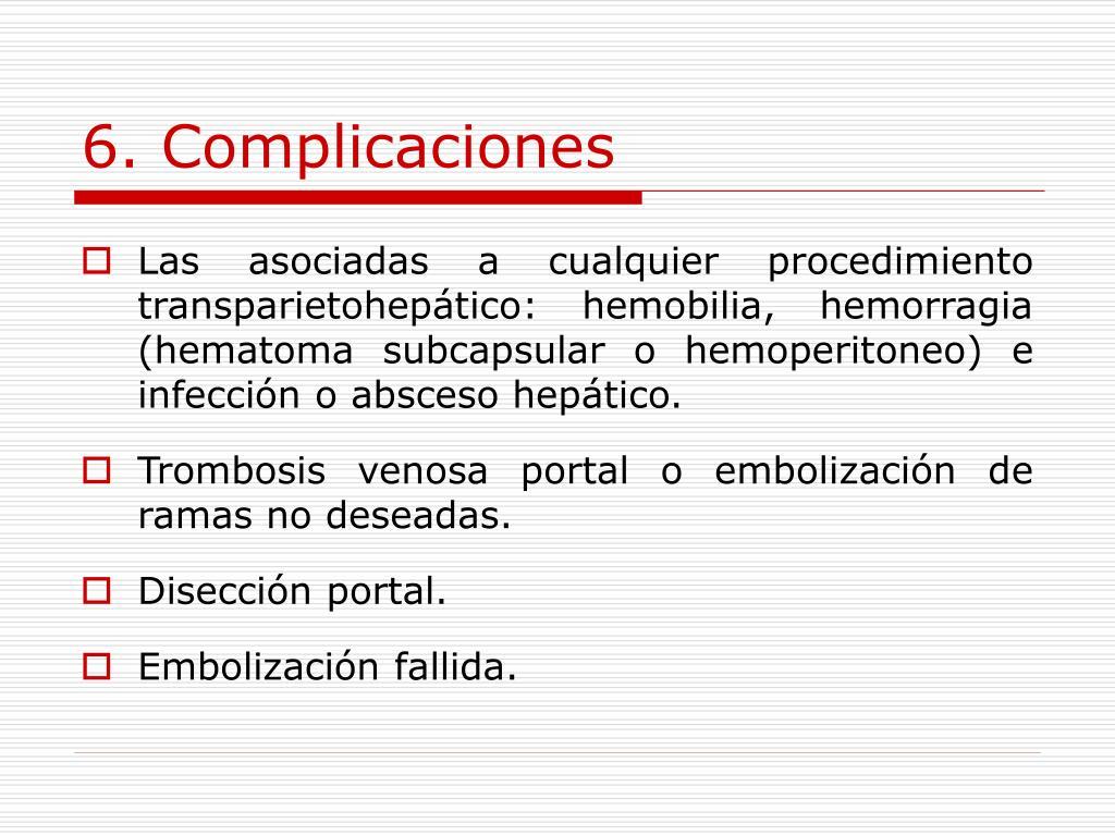 6. Complicaciones