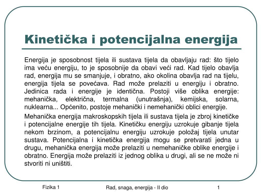 kineti ka i potencijalna energija l.