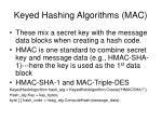 keyed hashing algorithms mac