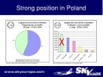 strong position in poland
