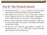 part ii the flemish school