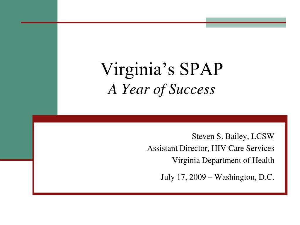 virginia s spap a year of success l.