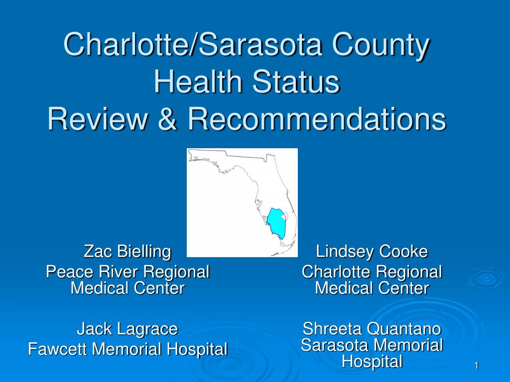 charlotte sarasota county health status review recommendations l.