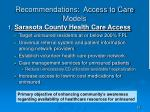 recommendations access to care models15