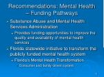 recommendations mental health funding pathways