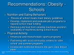 recommendations obesity schools