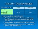 statistics obesity related