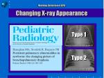 working definition of bpd changing x ray appearance