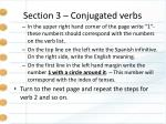 section 3 conjugated verbs