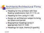 architects architectural firms