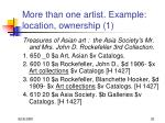 more than one artist example location ownership 1