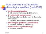 more than one artist examples chronological qualifiers post 1500