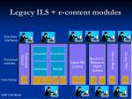 legacy ils e content modules