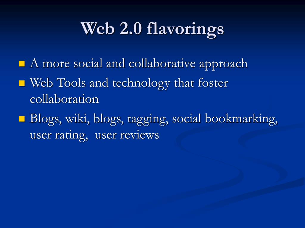 Web 2.0 flavorings
