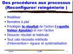 des proc dures aux processus reconfigurer reing nierie