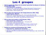 les 4 groupes