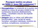 pourquoi mettre en place un sirh base rh commune