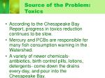 source of the problem toxics
