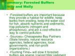 summary forested buffers emily and molly