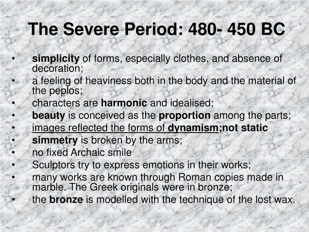 the severe period 480 450 bc l.