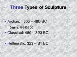 three types of sculpture