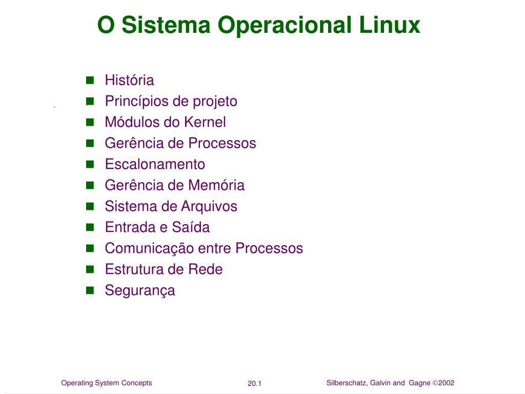 o sistema operacional linux l.