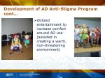 development of ad anti stigma program cont10