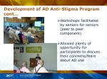 development of ad anti stigma program cont12