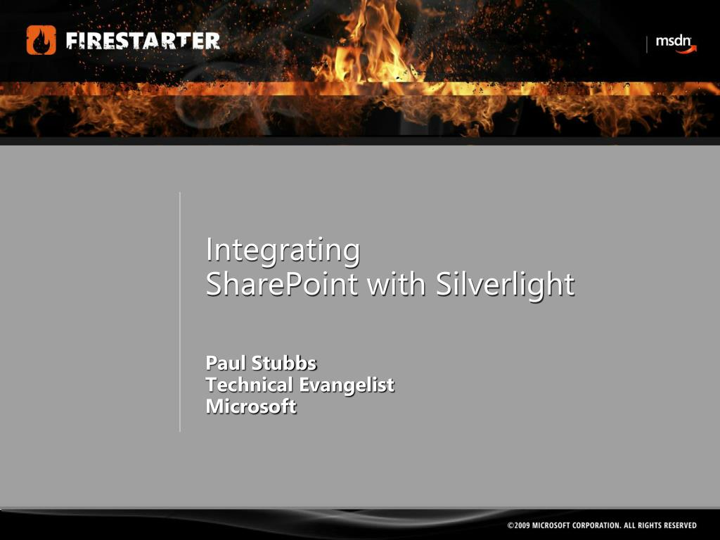 integrating sharepoint with silverlight l.