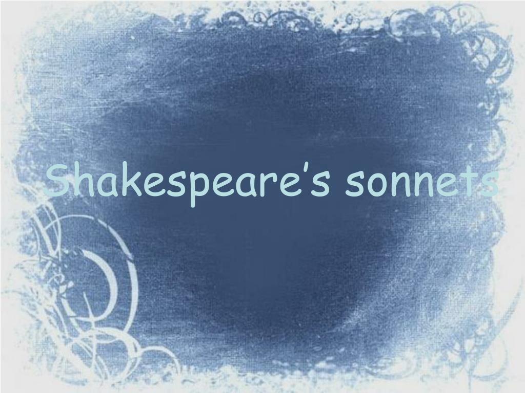 shakespeare s sonnets l.
